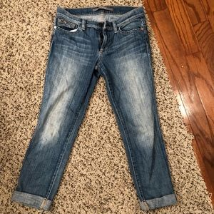 Joes Jeans distressed socialite kicker cropped